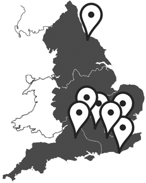 we have seven DSA centres in England